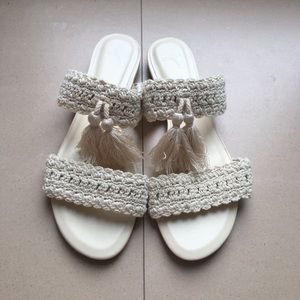 New JOIE leather &  textile sandals Sz 37.5